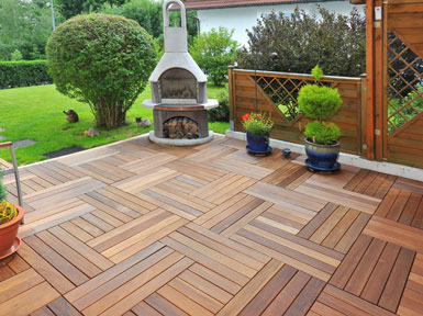 WPC (Made in Germany) Terrassenfliese Thermoesche Decking WPC ...